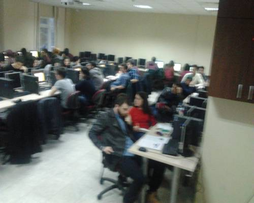 computer-equipped classroom